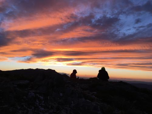 Summer sunset on Main Range of Kosciuszko National Park, NSW, 2017