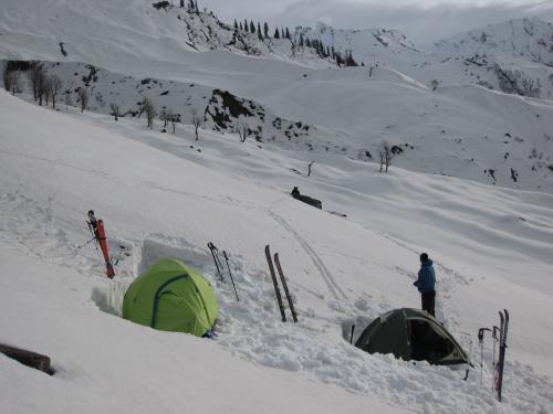 Solang campsite