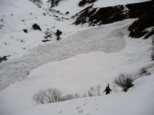 Crossing avalanche zone, Solang