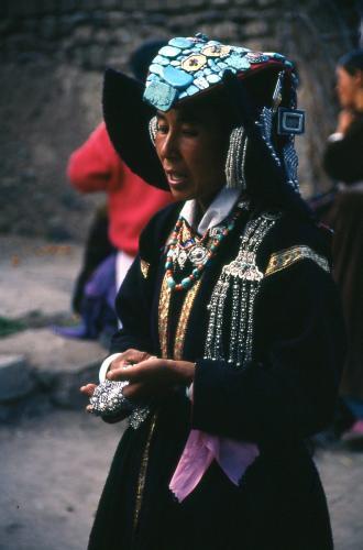 Woman near Leh, Northern India